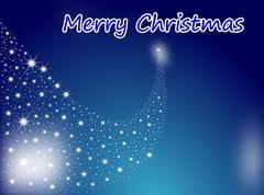 Merry Christmas Shooting star - Christmas background Stock Photos