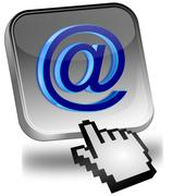 E-Mail Button with Cursor - stock photo