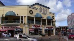 Aruba Town Centre Stock Footage