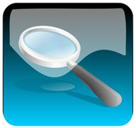 Magnifying glass search App - stock photo