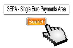 Internet web search engine SEPA - Single Euro Payments Area Kuvituskuvat