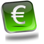 Button with Euro sign Stock Photos
