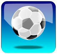 Soccer App - stock photo
