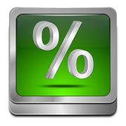Discount button with percent symbol Kuvituskuvat