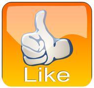 Thumb up App - stock photo