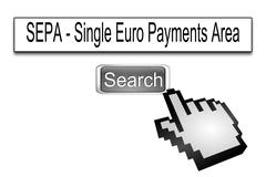 Internet web search engine SEPA - Single Euro Payments Area Kuvituskuvat
