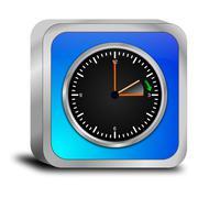 Stock Photo of daylight saving time button