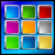 Internet web button set Stock Photos