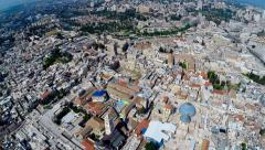 Aerial view of the Old City Jerusalem - stock footage