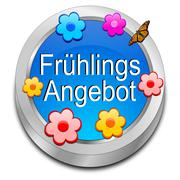 Spring sale button - in german - stock photo