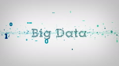 Binary Keywords Big Data White Stock Footage