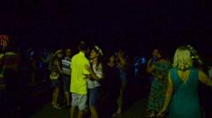 Night and dances, Ukraine. Ivan Kupala's holiday. Stock Footage