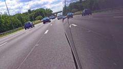 Motorway driving shot - M6, England Stock Footage