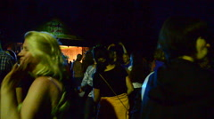 Crowd of people and dances Stock Footage