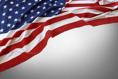 American flag on grey background Stock Photos