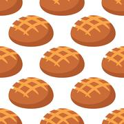 Stock Illustration of Cripsy wheat bread seamless pattern