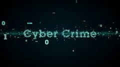 Binary Keywords Cyber Crime Blue - stock footage