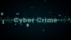 Binary Keywords Cyber Crime Blue - stock footage