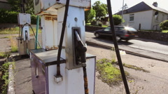 Discarded Petrol Pumps Stock Footage