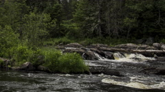 Northern Maine: River Rapids, Close-up Stock Footage