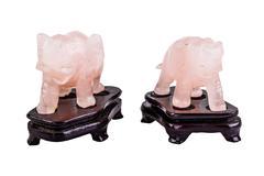 Stock Photo of Pink quartz elephants