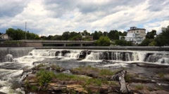 Waterfalls, Almonte, Ontario Stock Footage