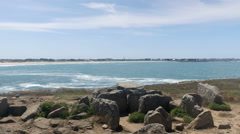 Dolmen and sea Stock Footage