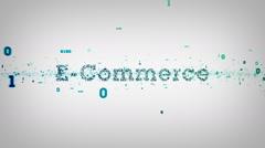 Binary Keywords E-Commerce White - stock footage