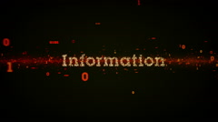 Binary Keywords Information Black - stock footage