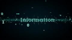Binary Keywords Information Blue - stock footage