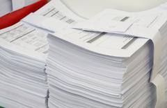 A lot of document - stock photo