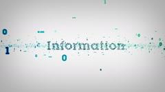 Binary Keywords Information White - stock footage