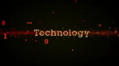 Binary Keywords Technology Black - stock footage