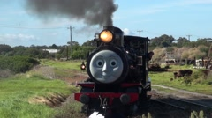 00082 Close up Oliver The Tank Engine. Stock Footage