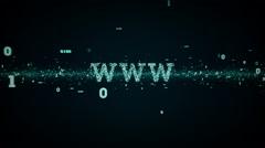 Stock Video Footage of Binary Keywords WWW Blue