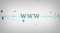Binary Keywords WWW White - stock footage