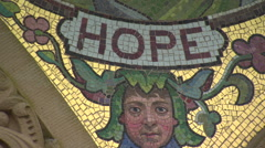 Church Mosaic tiles, 'Hope' Stock Footage