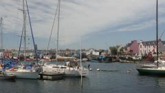 Fishing village in Brittany, France Stock Footage