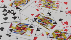 Pile of Playing Cards Stock Footage