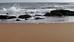 Beach soft tide wave - stock footage