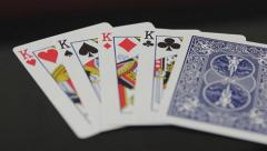 Rack  Focus to King Playing Cards Arkistovideo