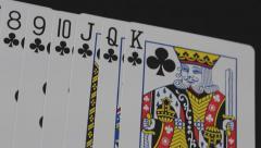 Club Playing Cards Stock Footage