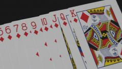 Pan Diamond Playing Cards Stock Footage
