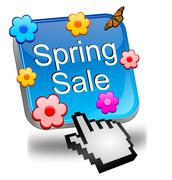 Spring sale button with cursor Kuvituskuvat