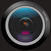 Photo lens - stock photo
