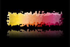 Spectrum of marbled colored splashes - stock illustration