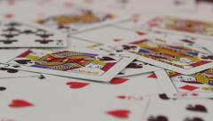 Rack Focus on Playing Cards Stock Footage