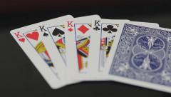 Rack Focus to King Playing Cards Stock Footage