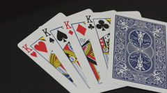 King Playing Cards Stock Footage