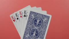 King Playing Cards Slide into Focus Arkistovideo
